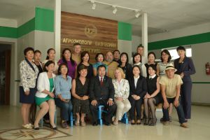 038 Part Of Czech Team With Mongolian Colleagues